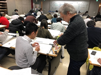 建築士の製図試験に対応した授業「建築士設計製図」[ 建築科2年]