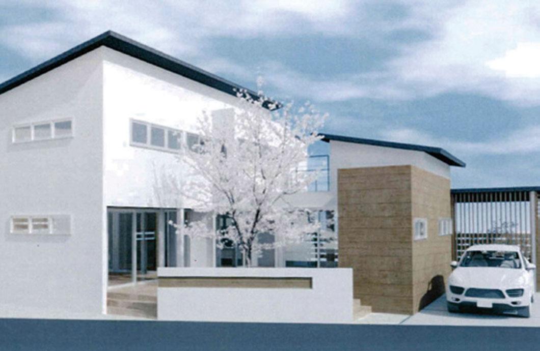 木造2 階建住宅設計 外観模型