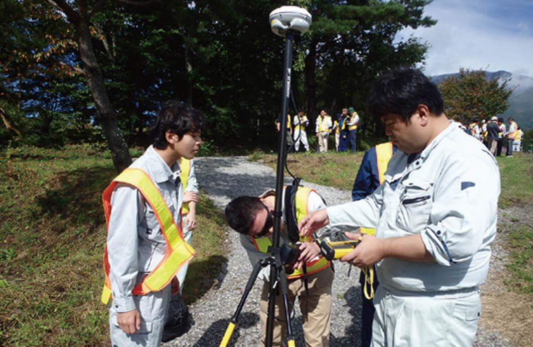 汎地球測位システム測量実習