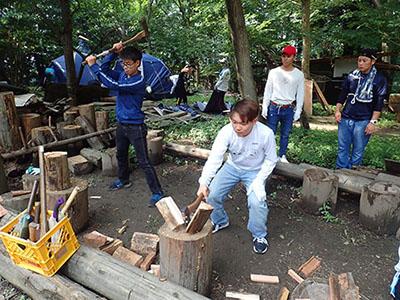 薪割りの講習