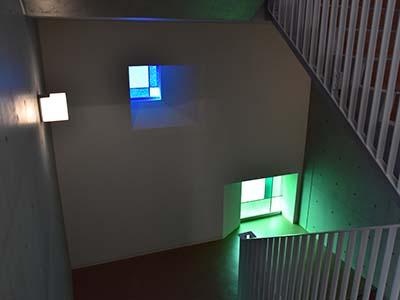 ステンドグラス(階段室)