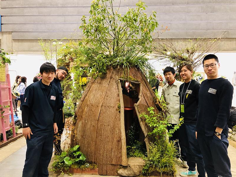 日本フラワー&ガーデンショウで金賞と学生特別賞を受賞しました。