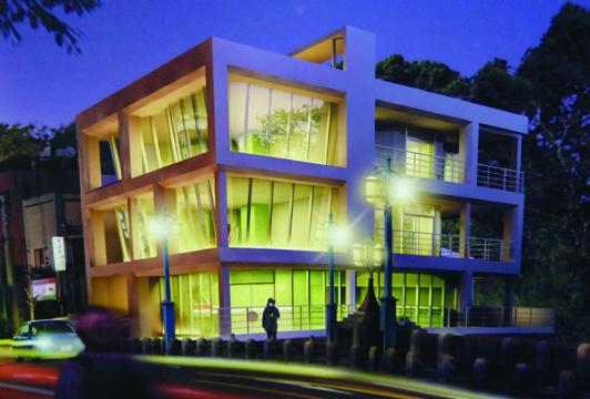 設計製図 進級作品 鉄骨造店舗併用住宅設計